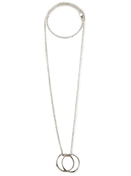 Henson Infinity Ring Necklace Metallic