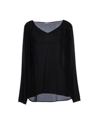 Pinko Grey Blouses Black