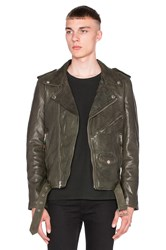 Blk Dnm X Revolve Man Exclusive Leather Jacket 5 Army