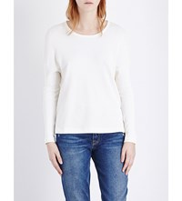 James Perse Round Neck Jersey Top White