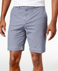 Tommy Hilfiger Men's Big And Tall Parker Check Shorts Silver Heather