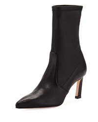 Stuart Weitzman Rapture 75Mm Lush Napa Sock Bootie Black