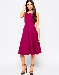 Traffic People Preppy Loves Midi Skater Dress Maroon