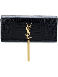 Saint Laurent Classic Kate Tassel Clutch Black