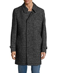 Strellson Mathion Herringbone Knit Coat Black