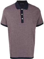 Michael Kors Contrast Trimmed Polo Shirt Pink