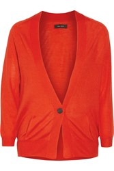 Isabel Marant Bailee Cashmere And Silk Blend Cardigan Red