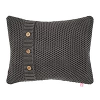Joules Grey Rice Bed Cushion 40X30cm