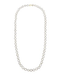 Armenta Midnight Silver And 18K Yellow Gold Link Necklace 34