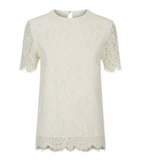 Victoria Beckham Floral Lace Top Female White