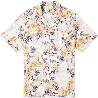 Engineered Garments Short Sleeve Botany Camp Shirt White