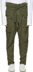 Faith Connexion Green Zip Cargo Trousers