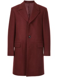 Gieves And Hawkes Oversized Coat Red