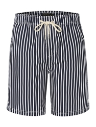 Howick Butcher Stripe Swim Short Navy
