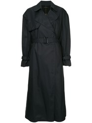 Ellery Illustrated Trench Coat Blue