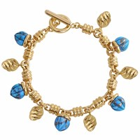 Lmj Sunshine Twist Charms Bracelet Gold