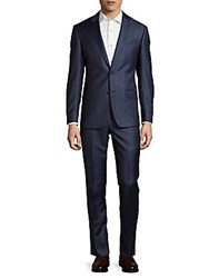 Michael Kors Windowpane Wool Suit Blue