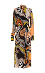 Emilio Pucci Long Sleeved Turtleneck Dress Print