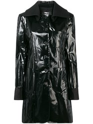 Yang Li Buttoned Trench Coat Black