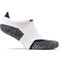 Nike Elite Cushion Dri Fit No Show Tennis Socks White