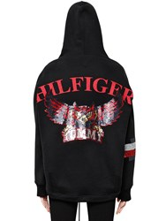 Tommy Hilfiger Collection Owls Hooded Cotton Sweatshirt