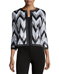 Michael Simon Zigzag Sequined Jacket Multi