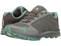 The North Face Litewave Fastpack Graphite Grey Agate Green Women's Shoes Gray
