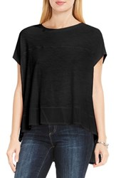Vince Camuto Women's Two By Chiffon High Low Hem Knit Tee