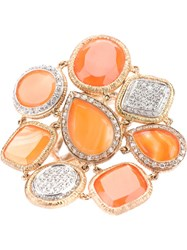 Pascia Diamante Opal Ring Gold Metallic
