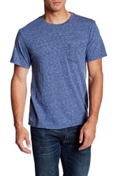 Faherty Short Sleeve Pocket Tee Blue