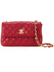 Chanel Vintage Mini Cc Quilted Bag Red