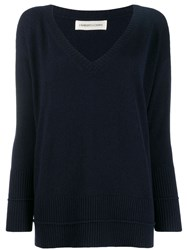 Lamberto Losani Loose Fit Jumper Blue