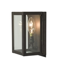 Original Btc Box Wall Light Miniature 7.6 In Height Black