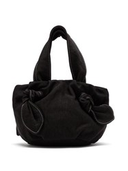 Staud Ronnie Knotted Canvas Bag Black