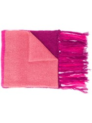 Semicouture Oversized Tonal Scarf Pink