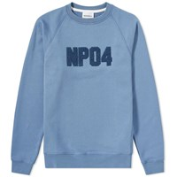 Norse Projects Ketal Classic Towelling Logo Sweat Blue