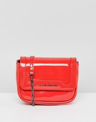Armani Exchange Red Chain Strap Cross Body Bag Poppy Red