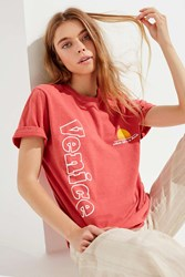 Urban Outfitters Venice Lifea S A Beach Tee Red