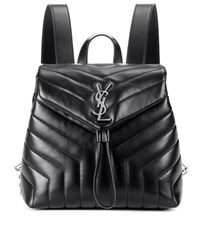 Saint Laurent Small Loulou Leather Backpack Black