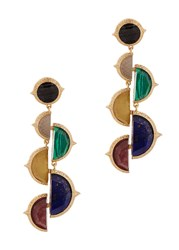 Isharya Abstract Mughal Gold Plated Earrings Multicoloured