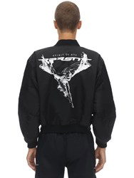 Represent Techno Bomber Jacket Black