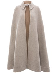 J.W.Anderson Jw Anderson A Line Double Face Cape Grey