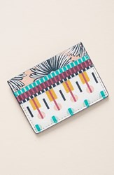 Anthropologie X Suno Card Case Pink White