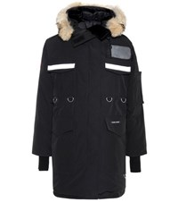 Canada Goose Resolute Parka Fur Trimmed Down Coat Black