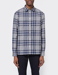 Norse Projects Hans Brushed Check Broken Grey
