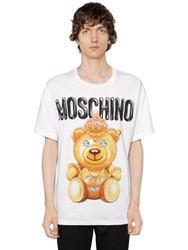 Moschino Oversize Bear Cotton Jersey T Shirt