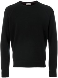 Barba Cashmere Knitted Sweater Black