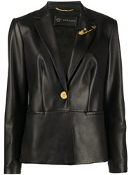 Versace Safety Pin Leather Jacket 60