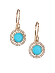 Astley Clarke Biography Celestial Turquoise Diamond And 14K Yellow Golddrop Earrings Blue