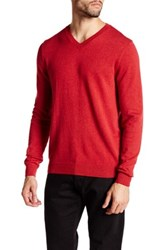 Wallin And Bros V Neck Long Sleeve Sweater Red
